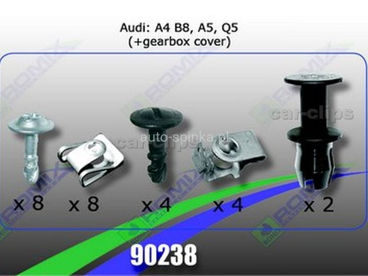 90238 Clip Cover Under Engine Audi A4 B8 A5 Q5 Auto Spinkapl